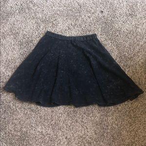 Acid Washed High Waist Skirt